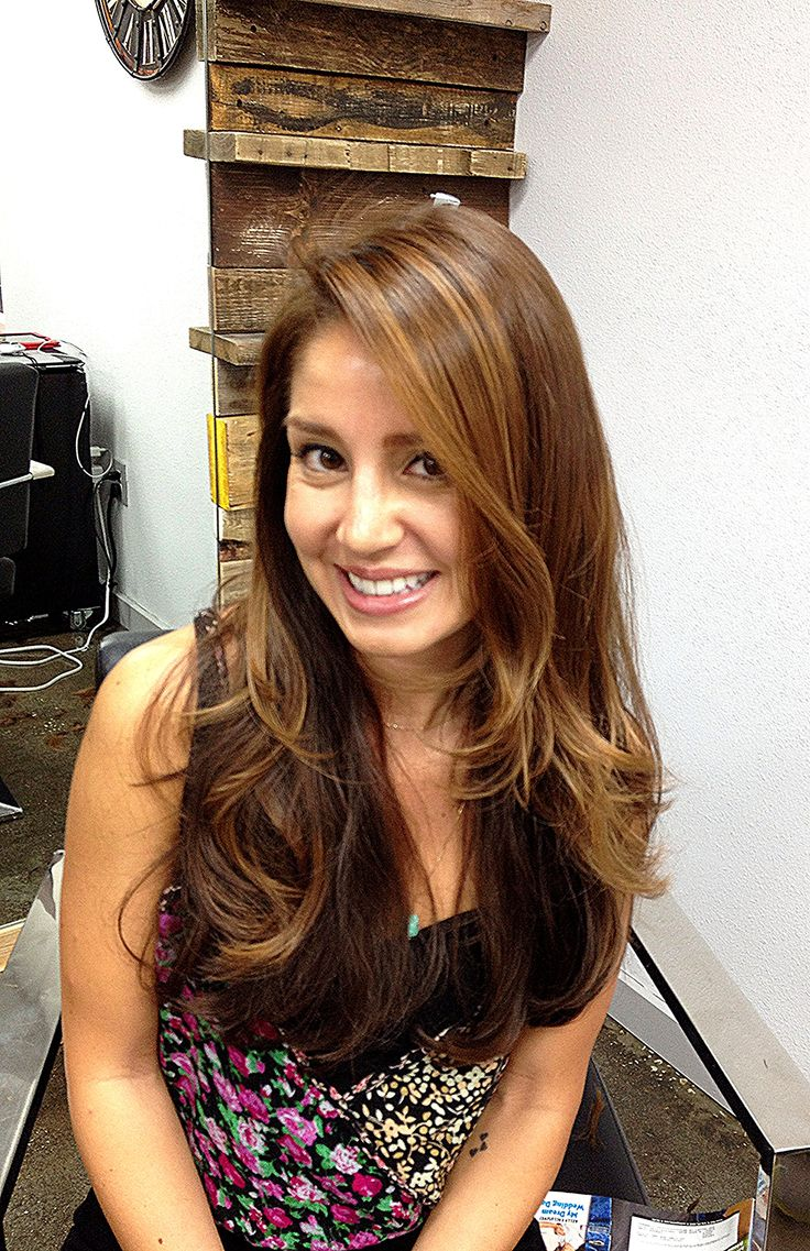 Stephanie Golden Brown Hair Color Using Schwarzkopf Color
