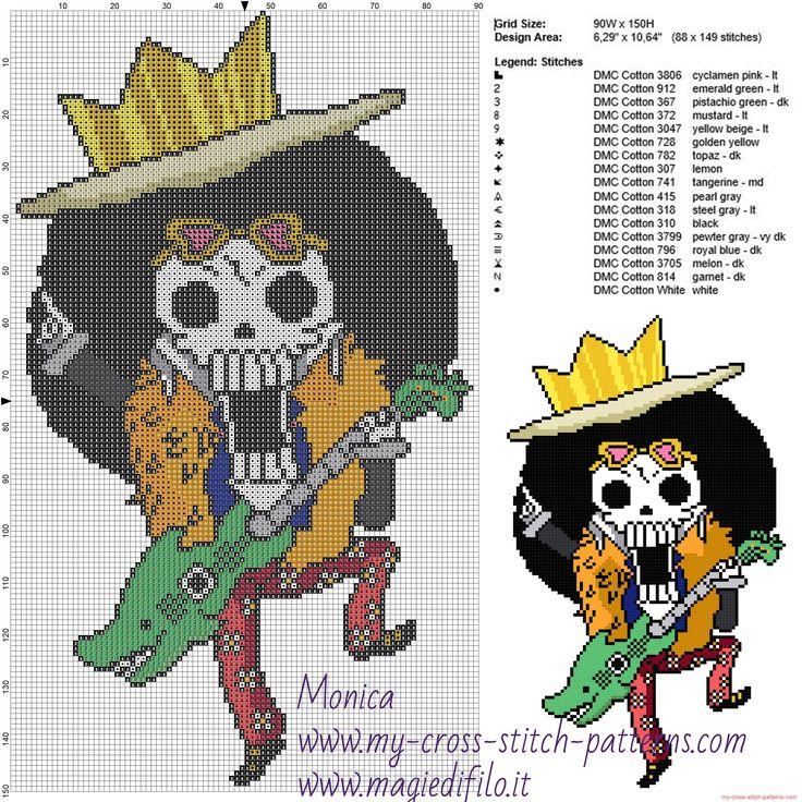 Brooke (One Piece) cross stitch pattern