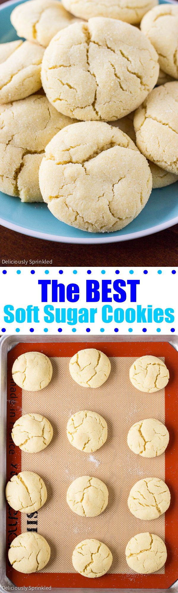 The BEST Soft Sugar Cookies EVER! And they are SO easy to make! These are a family favorite!