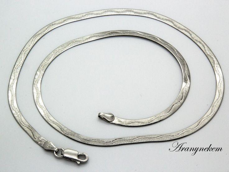 Ródiumos ezüst lap nyaklánc