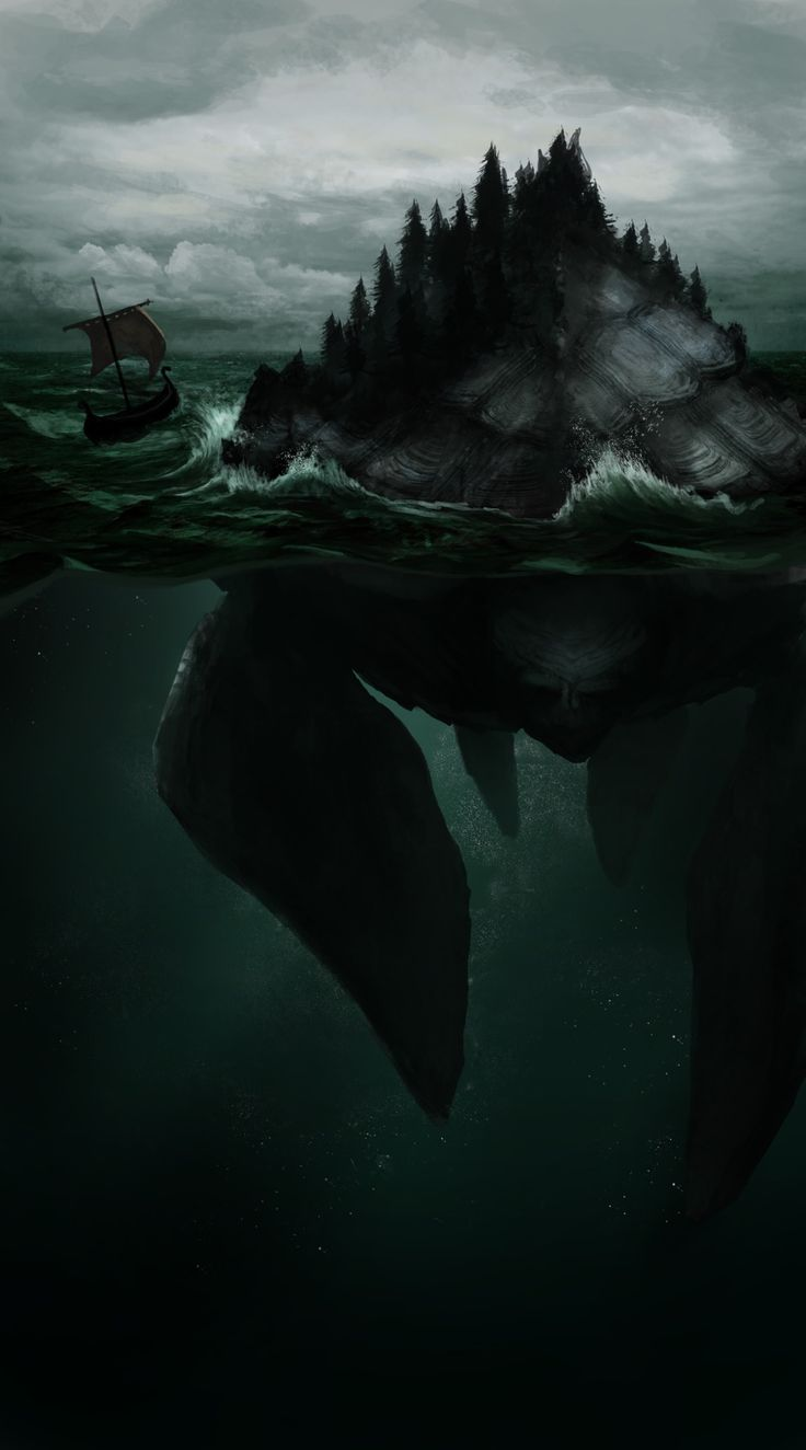 Lyngbakr - a monster from Norse mythology, said to be an island that would suddenly sink into the sea when travelers set foot on it.