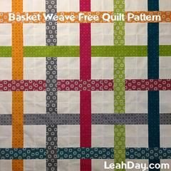 Learn how to piece this Basket Weave Quilt with a free quilt pattern available here: https://leahday.com/pages/basket-weave-free-quilt-pattern