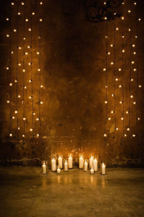 Stunningly romantic wedding backdrop | Jenn and Dave Stark | Design by Melissa Andre Events