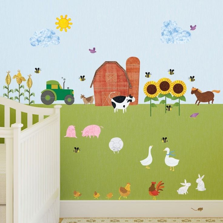 25 best ideas about farm wall stickers on pinterest for Barnyard wall mural