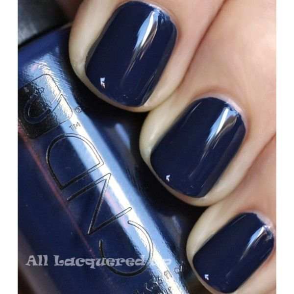 Fall 2011 Nail Polish Trend Bold Beautiful Blues ❤ liked on Polyvore featuring beauty products, nail care, nail polish and blue nail polish