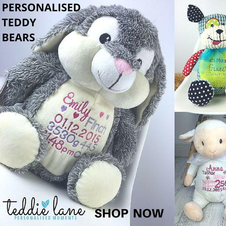 Personalised teddy bears  From $50.00
