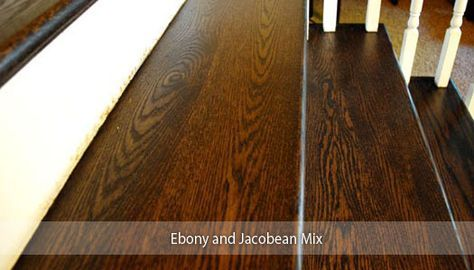 Ebony And Jacobean Mix Thinking Of Staining Your Hardwood