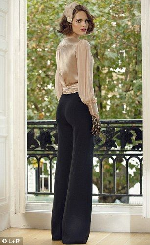 Oh to mimic the faux bob on Downtown Abbey. I love this look....Downton on the High Street: Blouse, £49, viyella. Palazzo pants, £15, dorothyperkins.com. Feather hair clip, £18, accessorize.com. Gloves, £69, aspinaloflondon.com