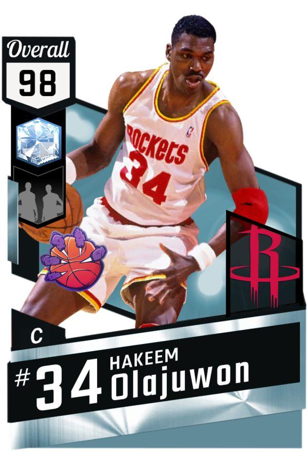 '94 Hakeem Olajuwon (98) MyTEAM Diamond Card