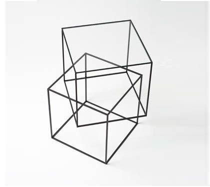 Think Black Table, Nendo by Oki Sato.