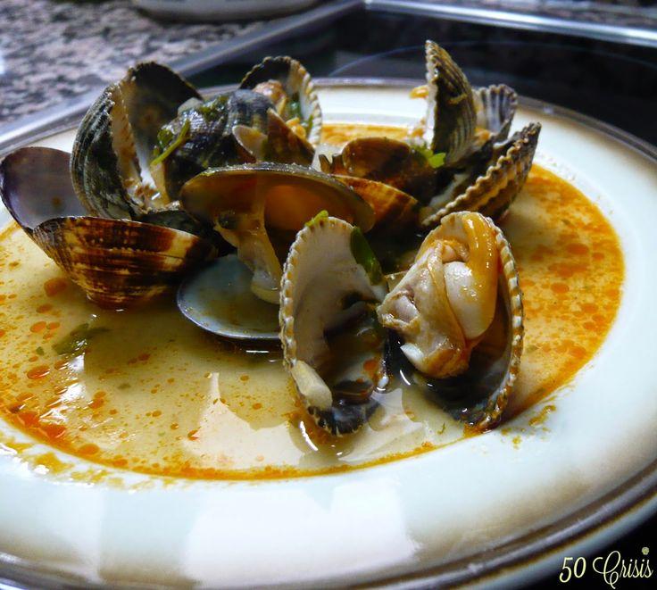 #Cocina conmigo: #Almejas y #berberechos en salsa
