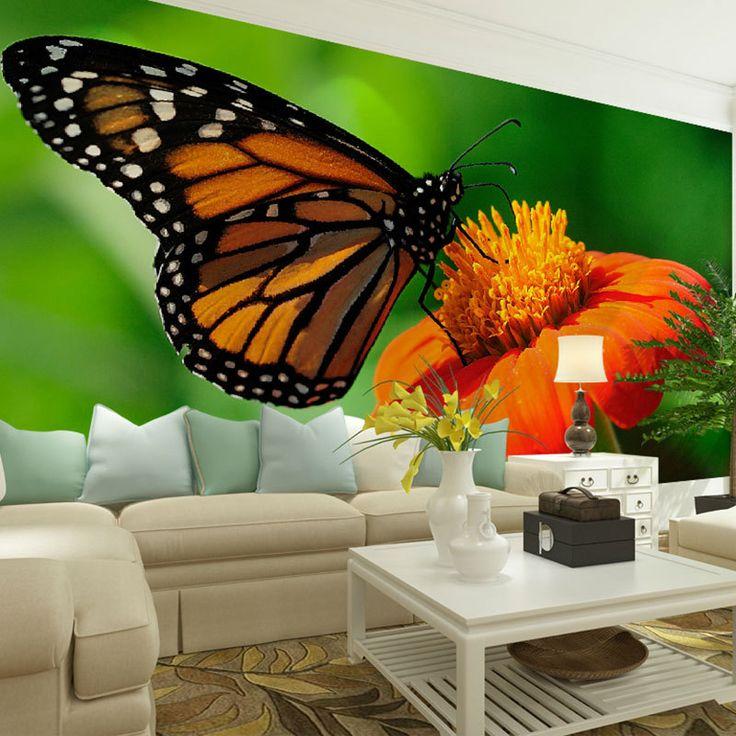 M s de 1000 ideas sobre tatuajes de mariposa en pinterest for Mural de flores y mariposas