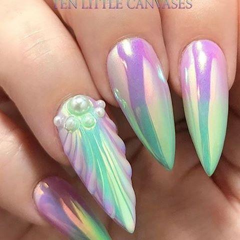#socialclaws #mirrornails #nailstyle #unicornnails #nailsofig #mermaidnails #notd #nailart #creativenails #manicure #mermaid #nailsnailsnails #nailporn #nailedit