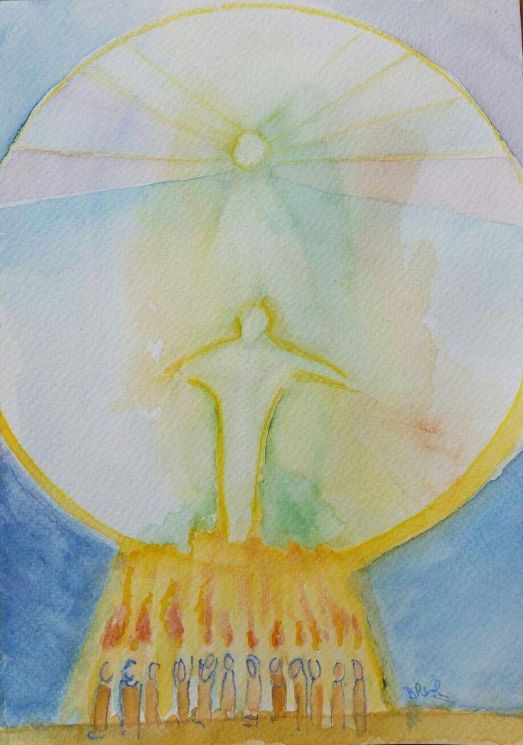 Pentecoste Pentecost - watercolor by Barbara Reale  #pentecost #pentecoste