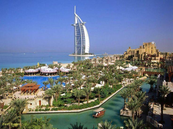 Il Burj Al-Arab Hotel di Dubai Burj Al Arab è un lussuoso hotel situato a Dubai, Emirati Arabi Uniti. A 321 M (1.053 Ft), E io - luoghi interessanti da visitare - Fuoco Elf - migliore vacanza e Luna di miele Destinazioni