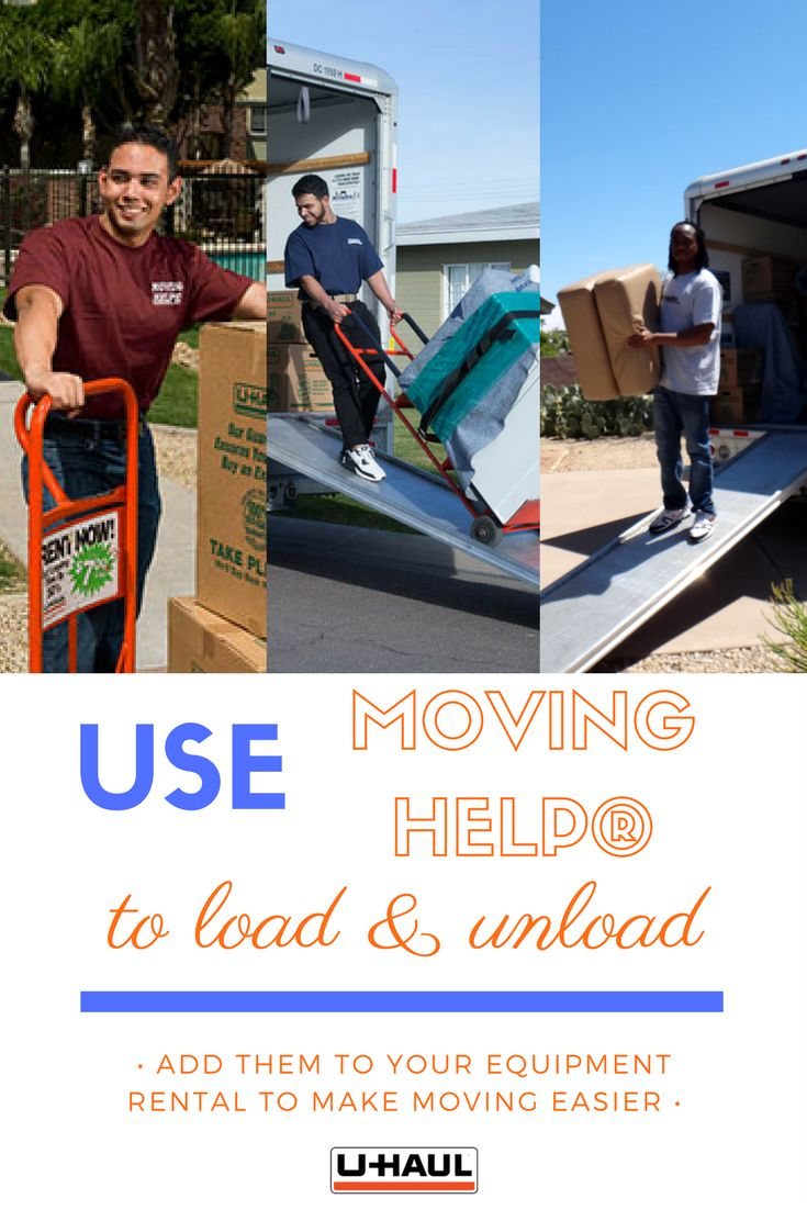 Use Moving Help® to load and unload your truck, trailer, van, U-Box Container® or self storage unit. on moving day. Movers will professionally and efficiently move your belongings items into your home or into storage. Select the services, crew size and hours you need, get an exact price and hire your Moving Helper online. I Planning for a Move