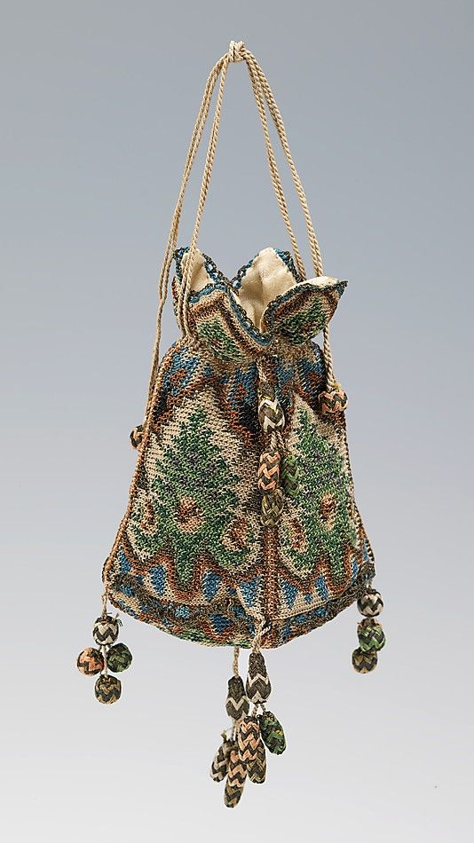 Reticule - silk and metal - 1800–1810,