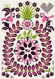 .: Patterns Design, Bitterness Sweet, Art Illustrations, Cards Collection, Folk Art, Sheep Bittersweet, Folk Heart, Cherries Sheep, Backgrounds Patterns