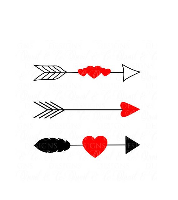 Arrows And Hearts Svg Valentine Svg Valentine S Day Svg Heart