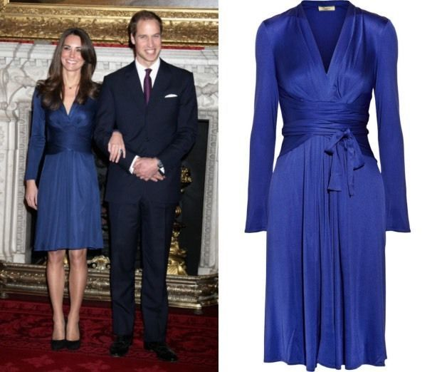 Blue Issa wrap dress as seen on Princess Catherine's engagement photos. | eBay!