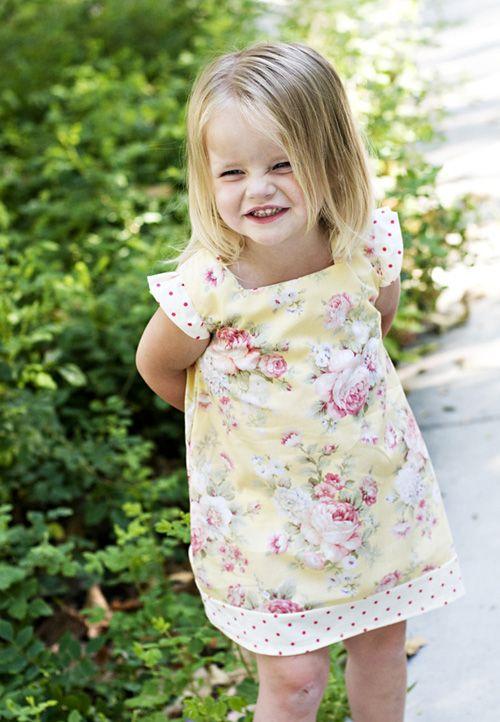 "Printable patterns at sewsweetpatterns.com ~ ""Elsie"" dress. Starts at 3-6mo size. $6"
