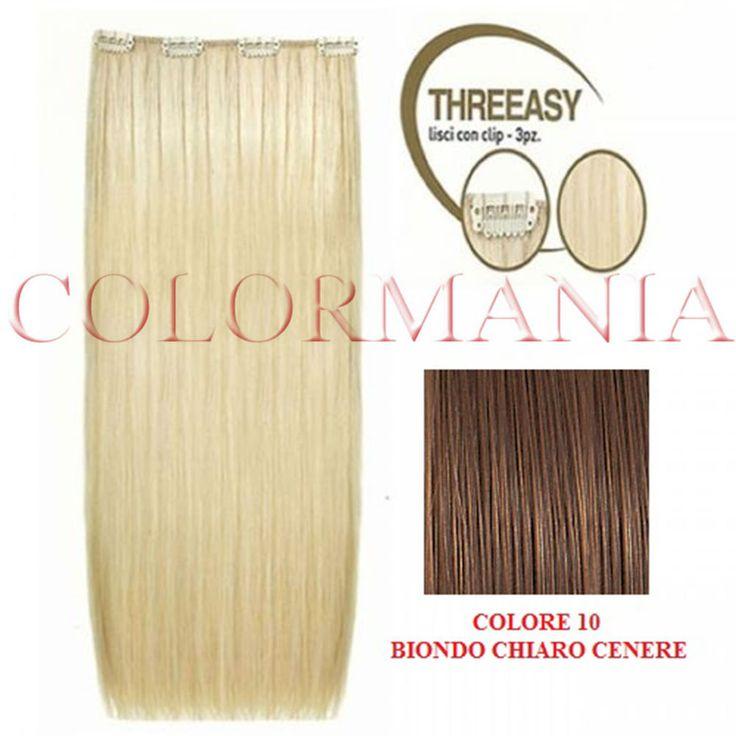 THREEASY KIT EXTENSION CLIP 3 FASCE COLORE 10 BIONDO CHIARO CENERE SHE