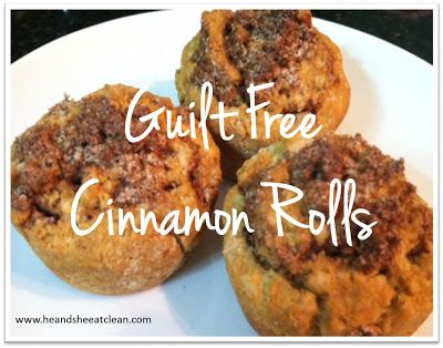Follow this easy to make cinnamon roll recipe that is ACTUALLY HEALTHY!!! No more guilt and no more extra pounds! Best of all, it doesn't need any yeast! Super easy to make. #recipe #breakfast #sweet #eatclean #heandsheeatclean