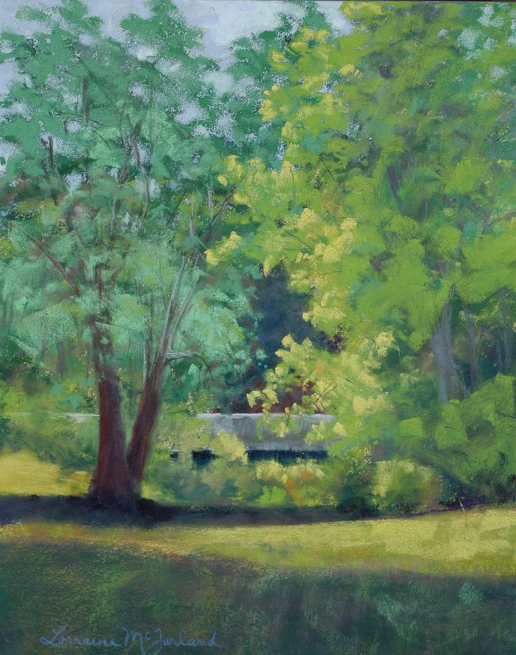 Painted during the Steelville Plein Air Competition. An Honorable Mention Winner. I found beauty in the mundane concrete highway bridge, thanks to Mother Earth's morning colors and light!