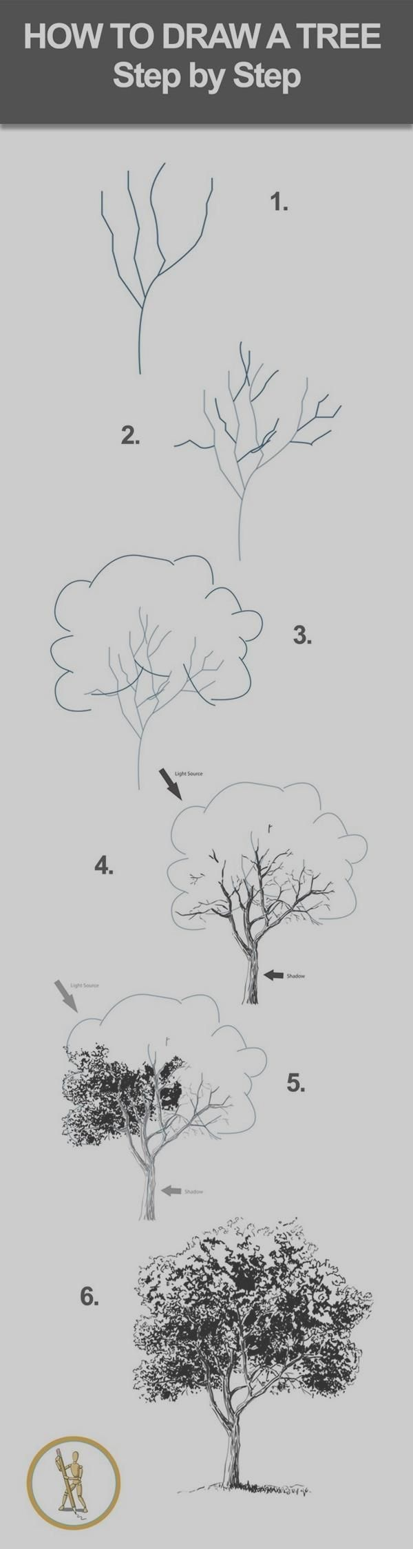 Art Tutorial - how to draw a tree