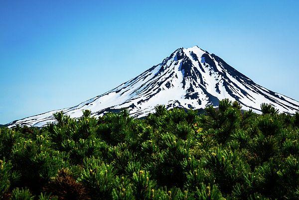 View On Viluchinskiy Volcano Photograph by Nadezhda Tikhaia   #NadezhdaTikhaiaFineArtPhotography #ArtForHome #HomeDecor #Nature #Landscapes #InteriorDesign #FineArtPrints
