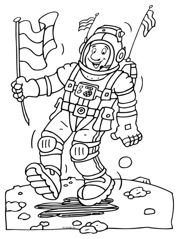 kleurplaat maanman mannetje op de maan kleurplaten nl