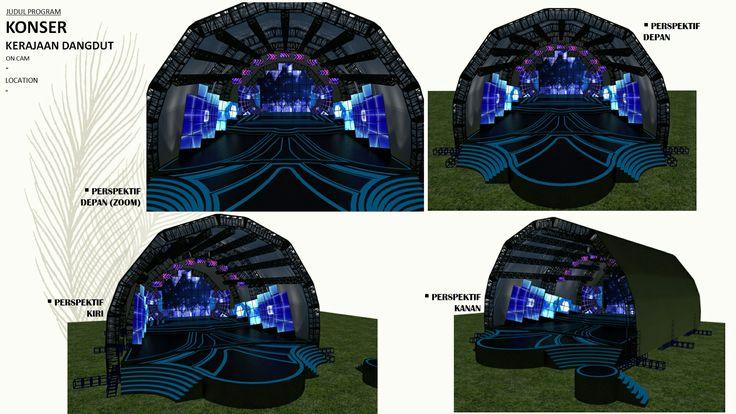 Konser dangdut (trans7) #portfolio #arsitektur #design #architecture