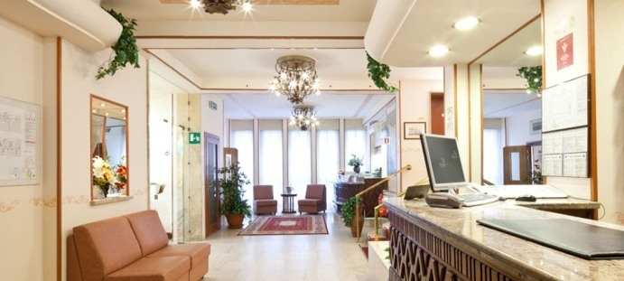 The hotel for families is situated in a modern and elegant building, in a quiet and peaceful area.