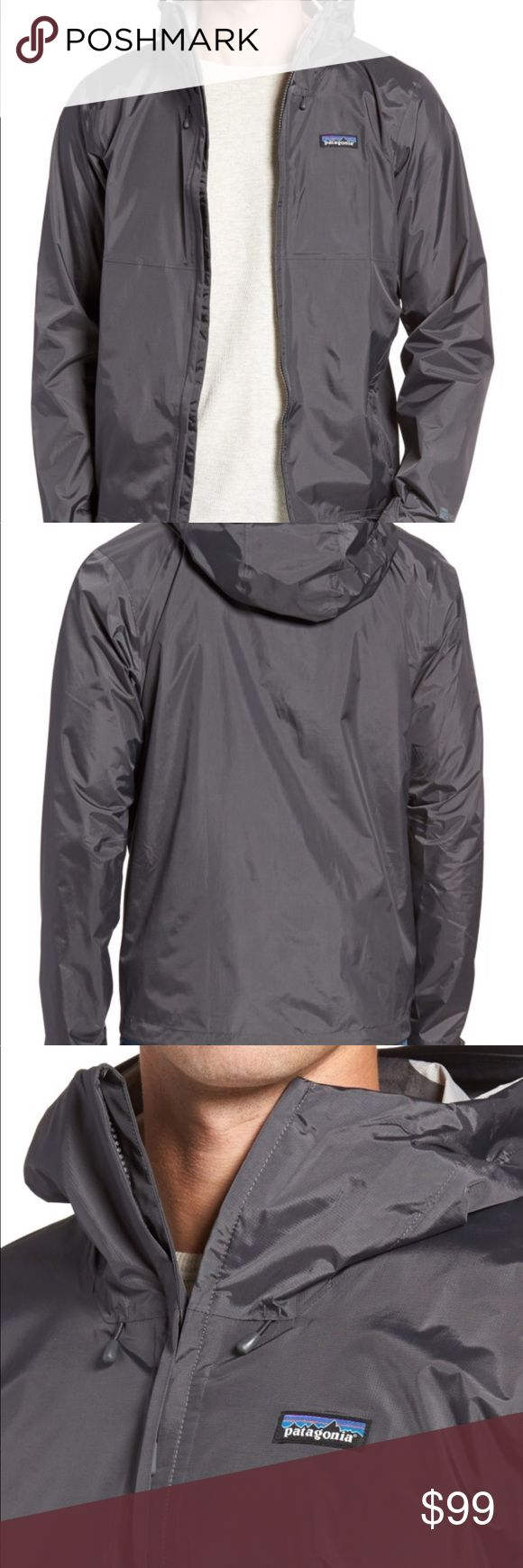 Patagonia Torrentshell Packable Rain jacket mens L Brand new never worn with partial price tag attached mens sz Large color is forge grey duplicate comes from a pet free smoke free home NO TRADES Patagonia Jackets & Coats Raincoats