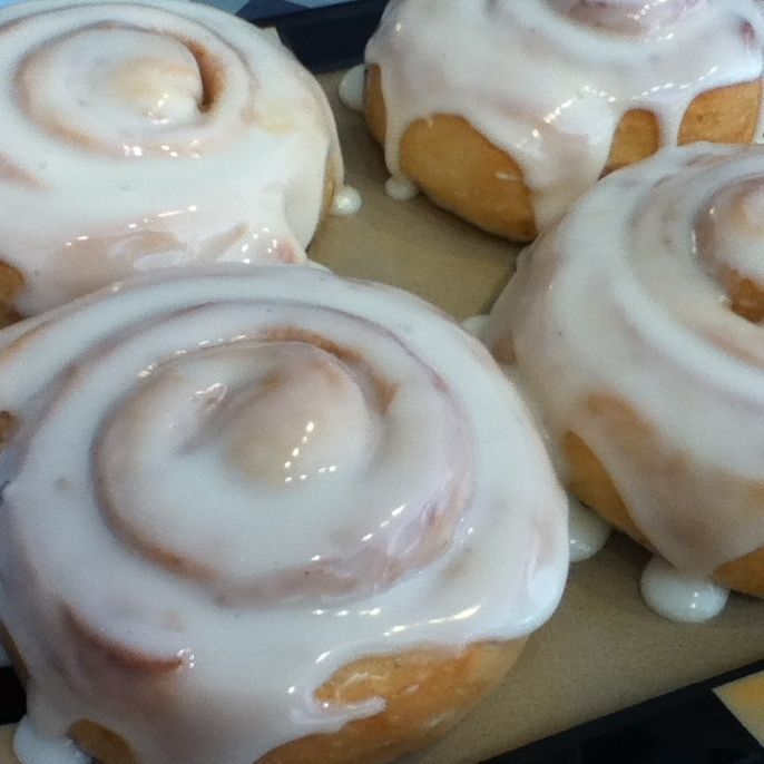 All natural, scratch-made Cinnamon Rolls @ Bread Head Bakery