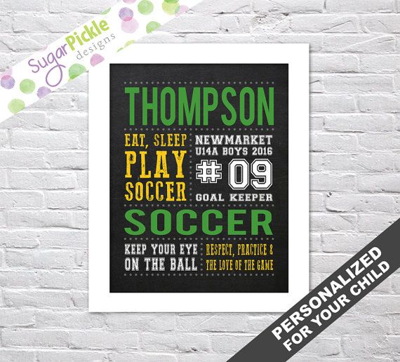 Soccer Subway Art, Soccer chalkboard sign, Soccer art, Soccer Print, Soccer Stats Art, Soccer Wall Art, Team Gift, Personalized,