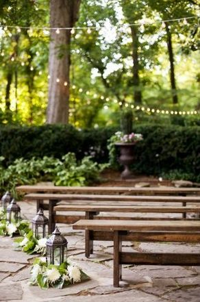 rustic outdoor wedding aisle markers wedding wire lanterns