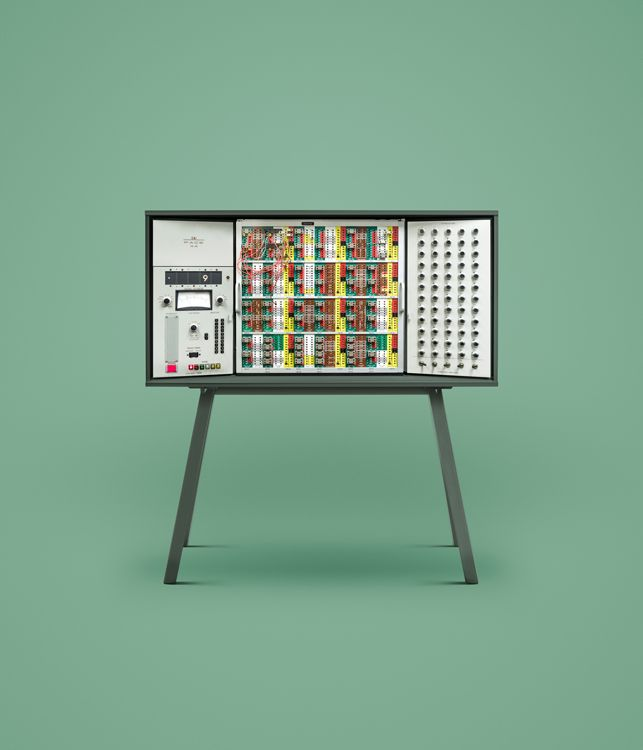 Ten historical computers, photographed by Docubyte and retouched by INK.
