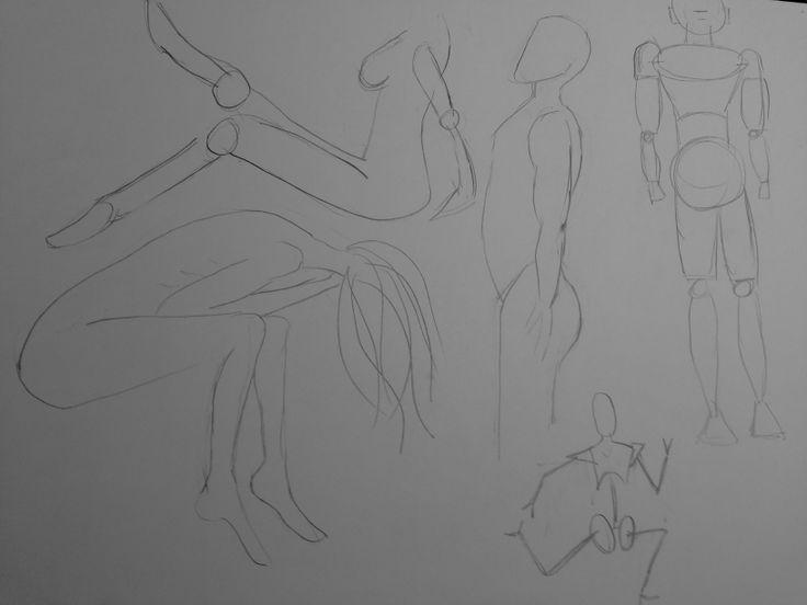 bocetos figuras humanas