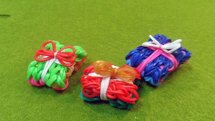 "★Pacchetto Regalo 3D con Elastici Rainbow Loom ""Christmas Present Charm""..."