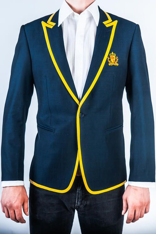 Club Collection - Yellow Stripe Blazer from Norwegian Couture.