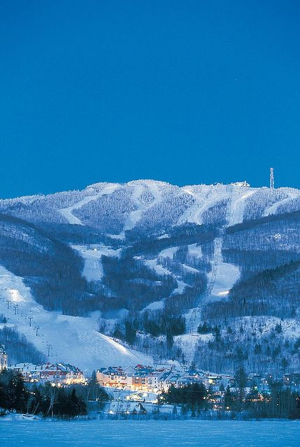 Mount Tremblant, Quebec, Canada.  Where the boys really  learned how to ski !