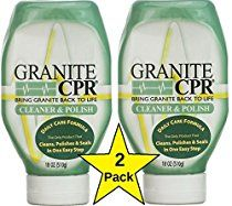 Granite CPR Cleaner, Polish & Sealer, 18 oz- 2 pack, Best Granite, Marble, Stone Countertop Cleaner, Polish and Sealer on the Market. 3 Products in 1. Made in USA. No Streaks, No Haze