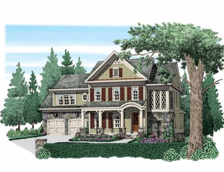Eplans Traditional House Plan - Computer Nook on Each Level - 3193 Square Feet and 4 Bedrooms from Eplans - House Plan Code HWEPL74175