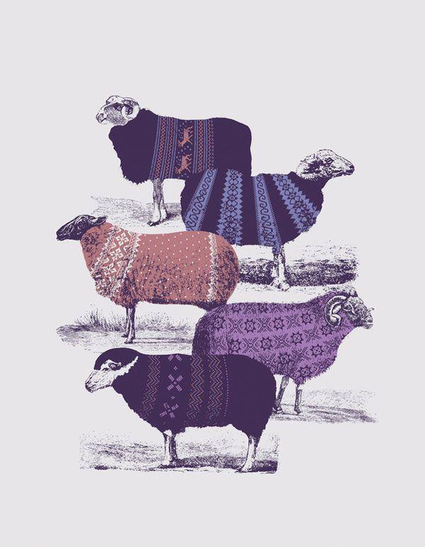 sheep style: Sweaters, Graphic, Inspiration, Pattern, Illustrations, Art Prints, Sheep, Animal