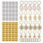 80 Stücke Dekorationen Anhänger Dreadlocks Perlen Metall Manschetten Haar RiRSDE