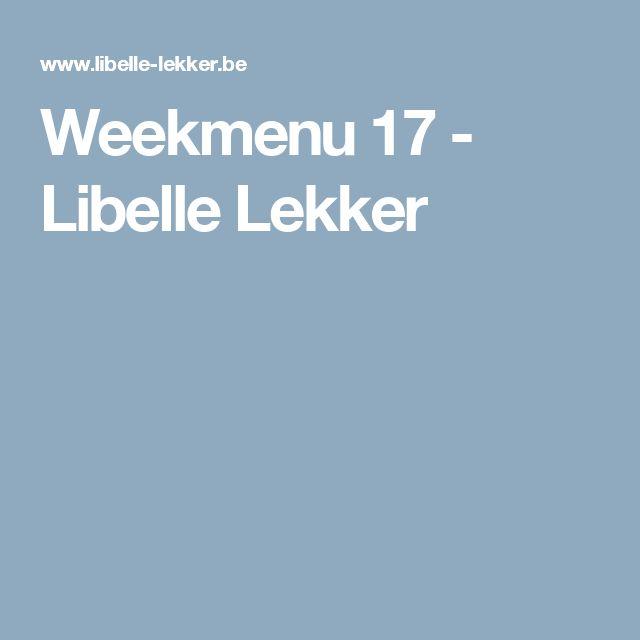 Weekmenu 17 -                         Libelle Lekker