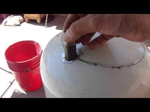 Hecho en casa Olla alta presión Blaster / Sand Blaster fuera del tanque de propano parte 1 de 4 - YouTube