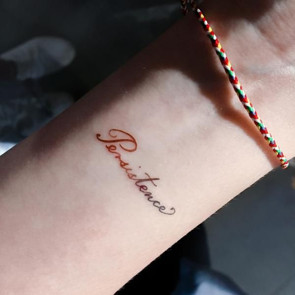 Watercolor Lettering Tattoo Gradient Calligraphy Word Tattoos