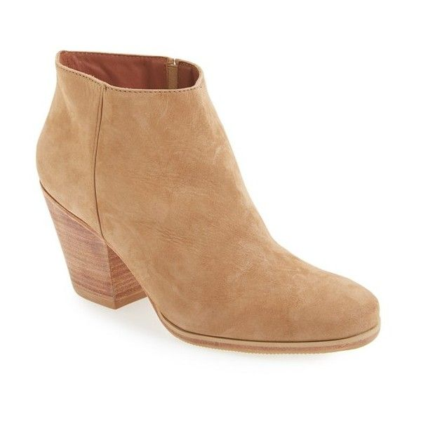 Women's Rachel Comey 'Mars' Bootie ($426) ❤ liked on Polyvore featuring shoes, boots, ankle booties, natural nubuck, rachel comey bootie, rachel comey booties, rachel comey boots, bootie boots and short boots